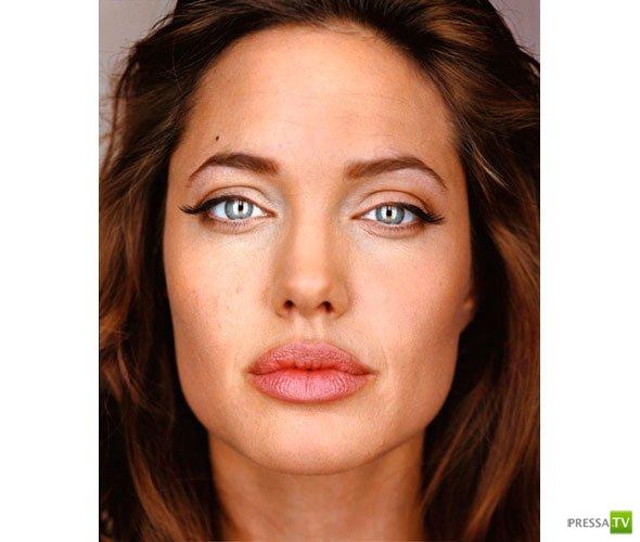 Лица звезд голливуда вблизи без макияжа