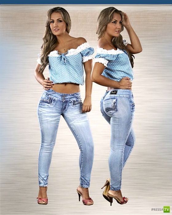 Красивые девушки в джинсах... (62 фото)