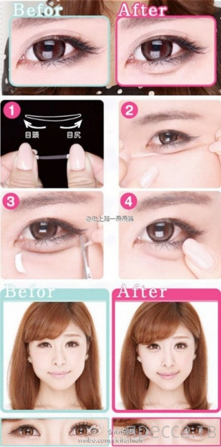 Makeup for under eye