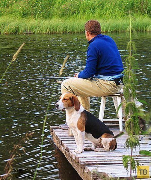 красивые мужики на рыбалке
