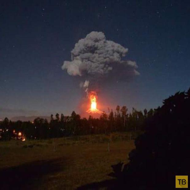 В Чили началось извержение вулкана Вильяррика (15 фото)