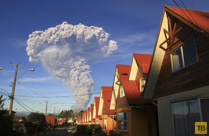 Стихийное бедствие в Чили. Вулкан Кальбуко проснулся и выбрасывает пепел (15 фото)