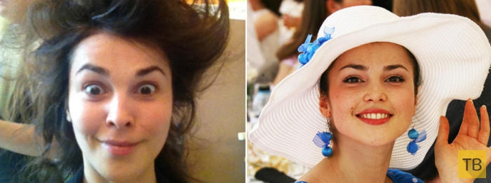 Селфи российских знаменитостей без макияжа (20 фото)