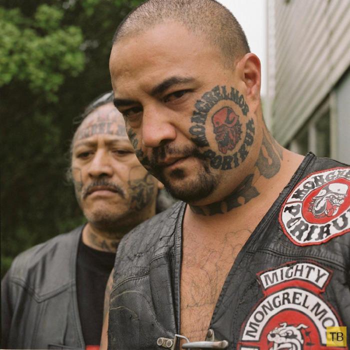 Банда Монгрел Моб (Mongrel Mob) из Новой Зеландии (18 фото)