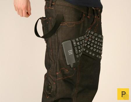 Клавиатура для ноутбука, встроенная в штаны (7 фото)