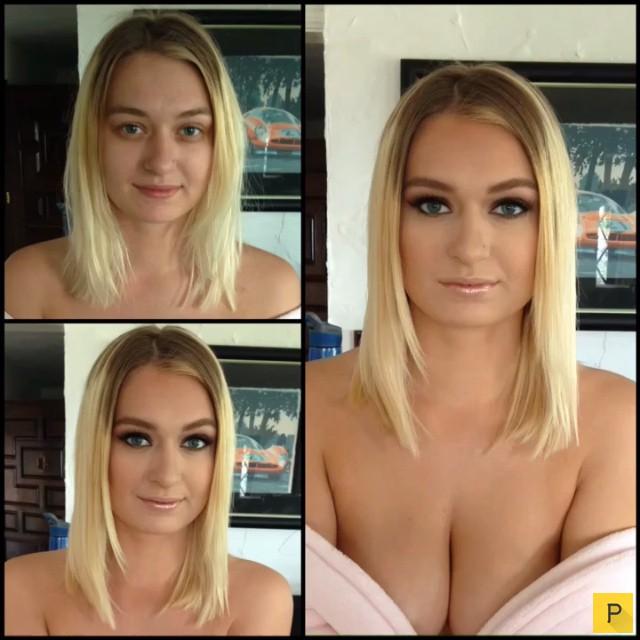 Профессиональные модели до и после макияжа (55 фото)