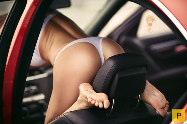 фото промежность девушек в авто