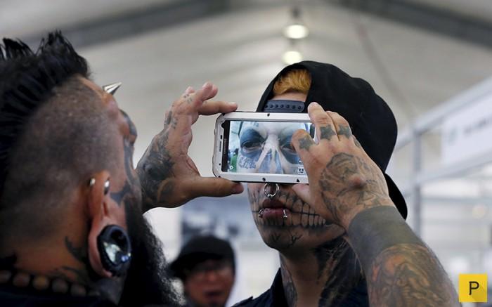 Фестиваль фанатов модификации тела в Чили (10 фото)