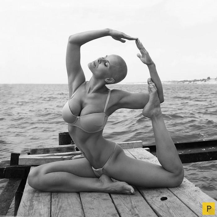 ню фото йога
