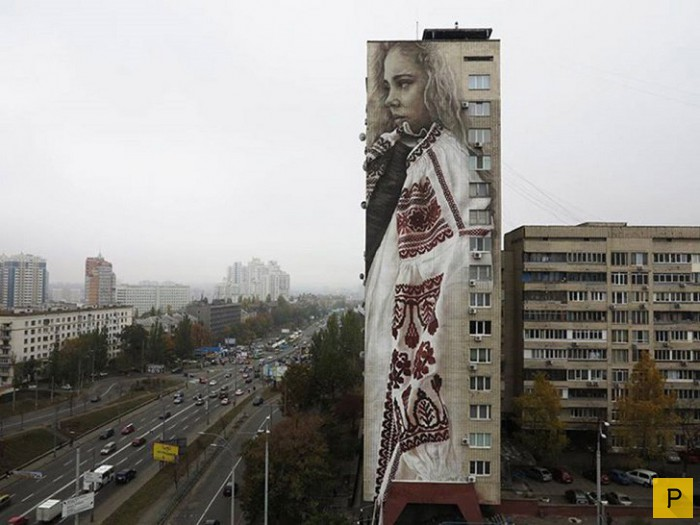 В Киеве всё чаще появляются новые ...: pressa.tv/foto/46787-vpechatlyayuschie-ulichnye-kartiny-v-kieve-15...