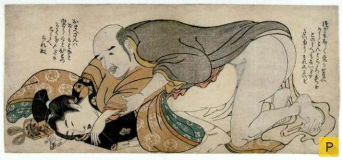 Японские гравюры о сексуальных фантазиях
