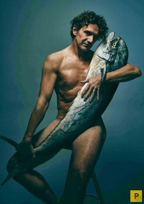 """Обнаженные британские """"звезды"""" против чрезмерного улова рыбы (11 фото)"""