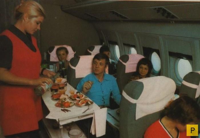 Советская реклама Аэрофлота и реальная жизнь (16 фото)