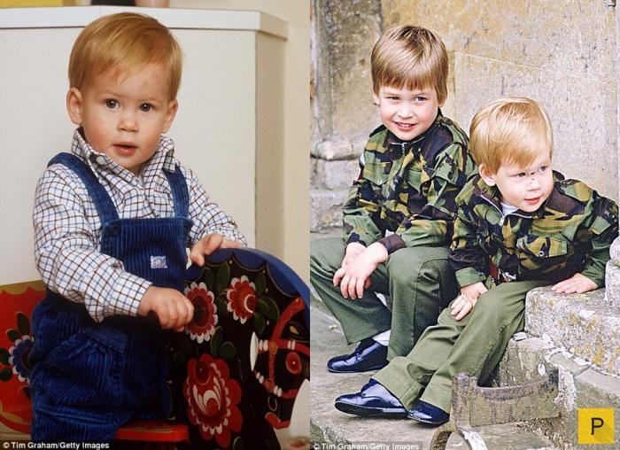 Принц Гарри в детстве (16 фото)