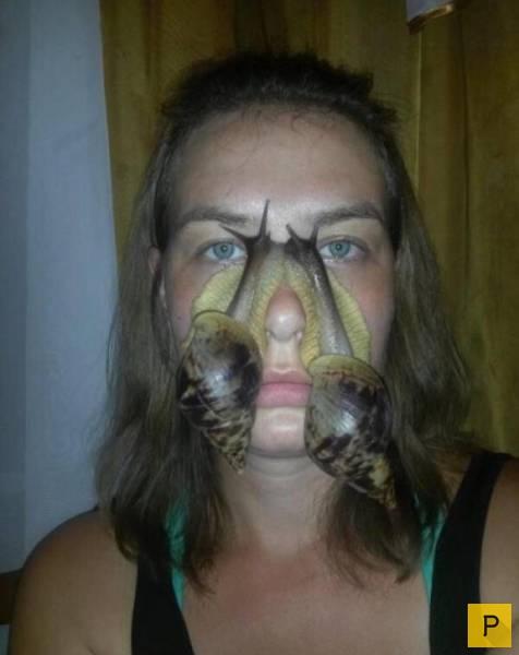 на лицо фото жомашнее