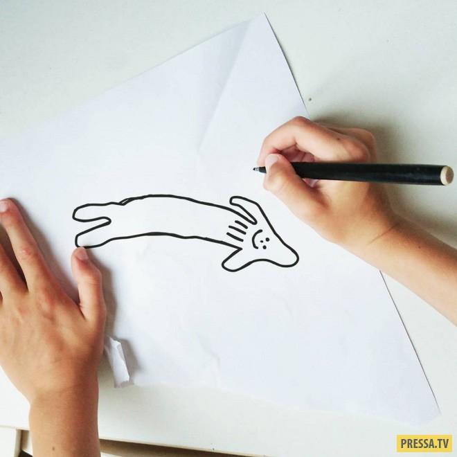 Отец воплощает рисунки 6 - летнего сына в реальные аналоги (24 фото)