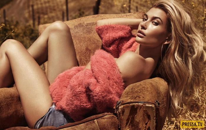 Хейли Болдуин - лицо модного бренда Guess, осень-зима 2016/2017 (14 фото)