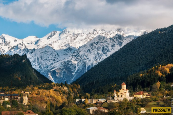 Высокогорная долина на Северо-западе Грузии (20 фото)