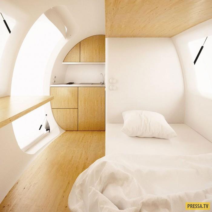 Портативный дом в виде капсулы (10 фото)