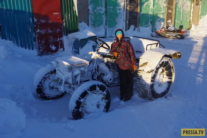 О настоящих внедорожниках в условиях Крайнего севера  (25 фото)