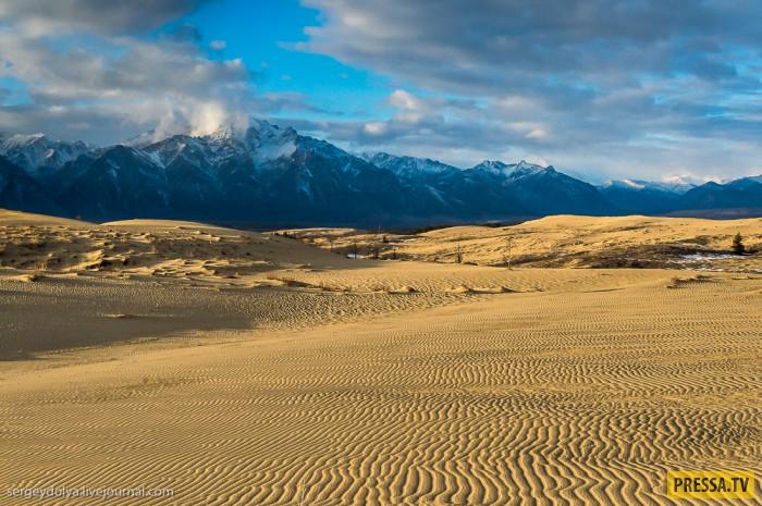 Самая северная пустыня в мире - Чарские пески (18 фото)