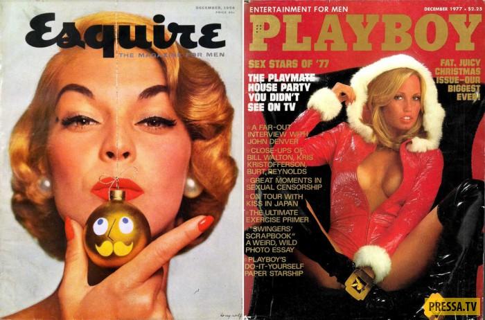 Бесстыжие снегурочки из винтажных журналов для мужчин (21 фото)
