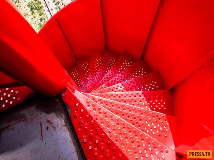Отель на подъемном кране, для любителей острых ощущений (24 фото)
