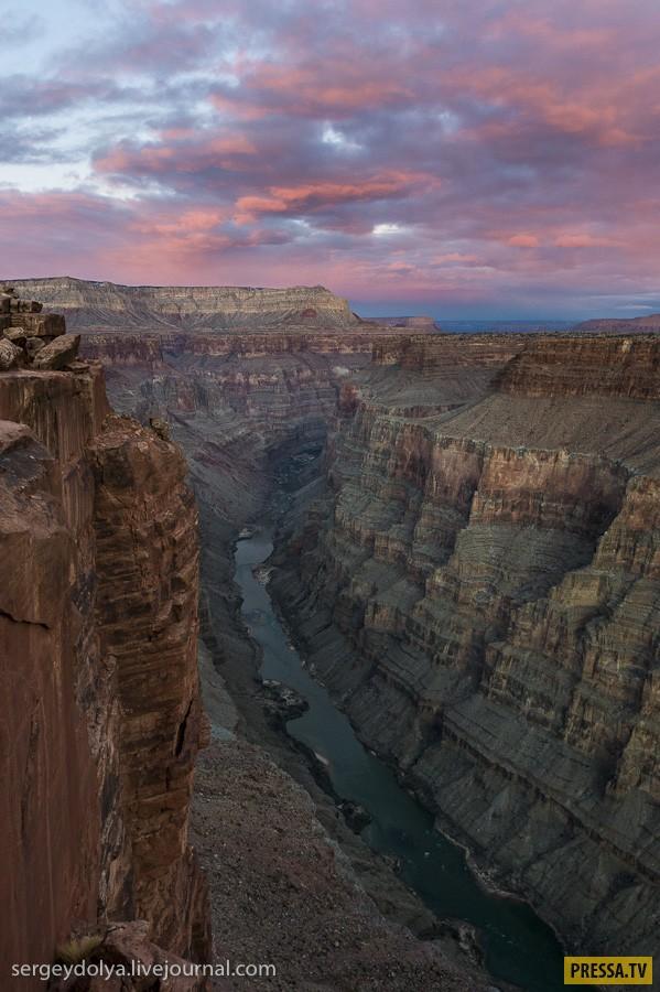 Закат над  Гранд Каньон и Уайт Покет (28 фото)