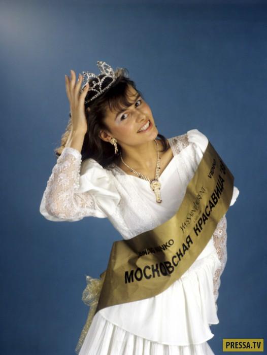 Маша Калинина - победительница первого конкурса красоты в СССР (7 фото)