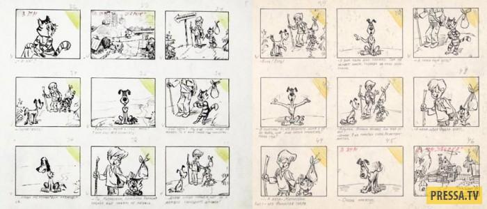 """Как создавали один из самых популярных советских мультфильмов """"Трое из Простоквашино"""" (18 фото)"""