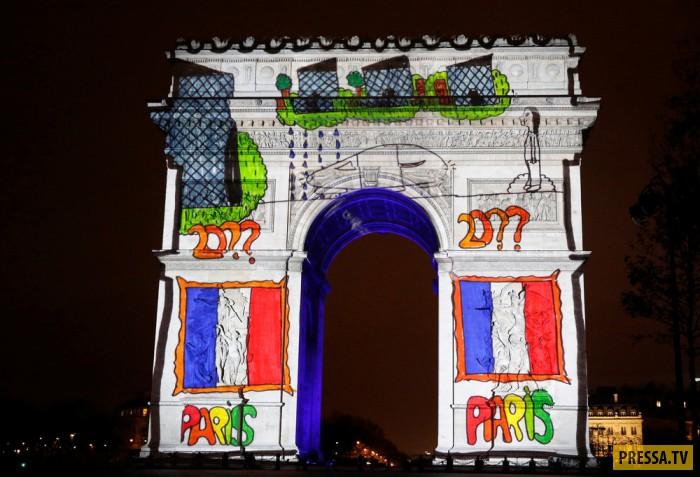 Световое шоу в Париже (19 фото)