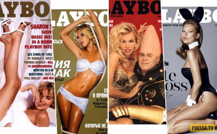 Самые яркие и запомнившиеся обложки журнала  Playboy (62 фото)