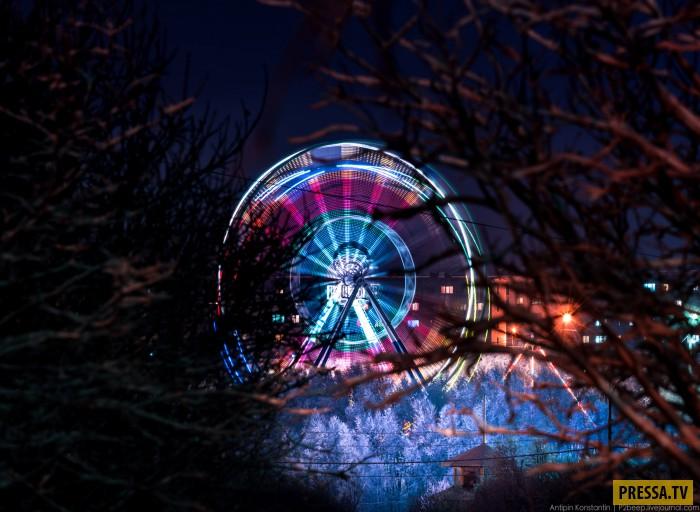 Колесо обозрения за полярным кругом. Это Мурманск (50 фото)