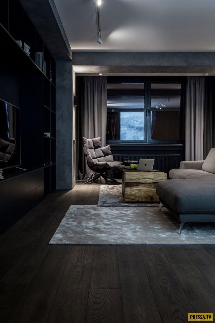 Квартира с темным интерьером (21 фото)