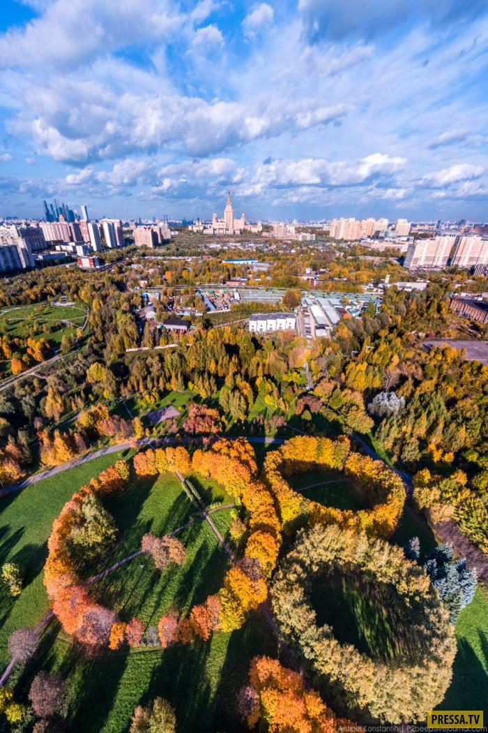 Москва вид с вертолёта (40 фото)
