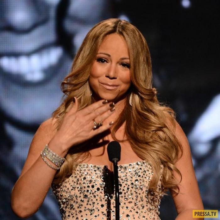 Неизвестные изуродовали звезду Мэрайи Кэри на голливудской Аллее славы (4 фото)