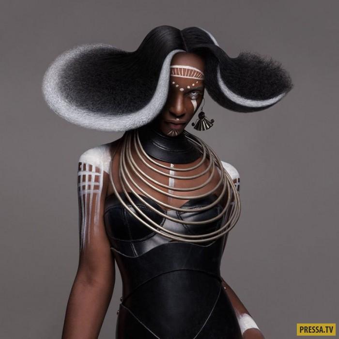 Фантастические прически в стиле афро от Лизы Фарралл (11 фото)