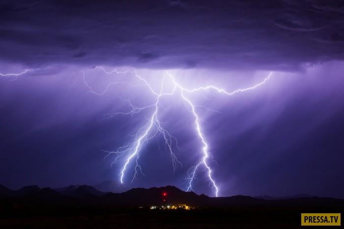Ураганы, штормы и бури над штатом Аризона (18 фото)
