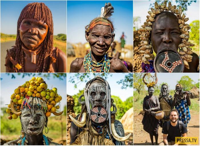 Красотки из племён южных районов Эфиопии (10 фото)