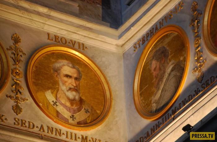 Базилика Святого Павла в Риме предсказывает конец Света (7 фото)