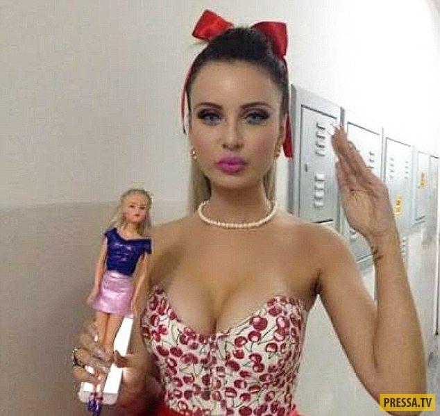 Дженнифер Памплона на пути превращения в Барби (7 фото)