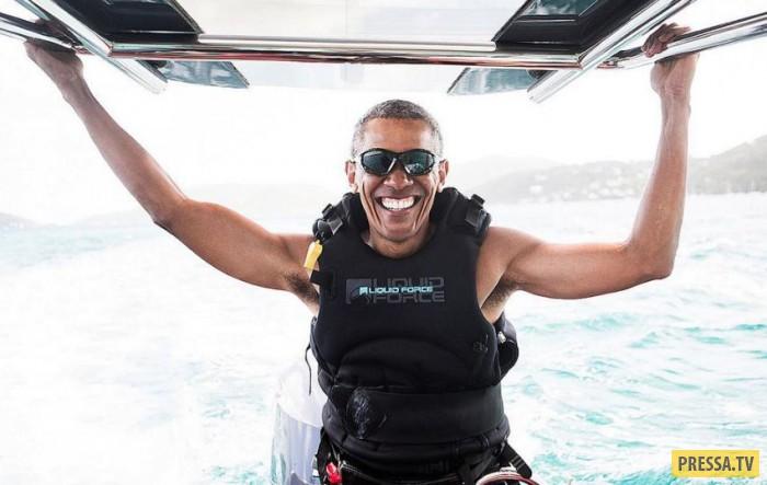 Барак Обама наслаждается жизнью на Гавайях (14 фото+1 видео)