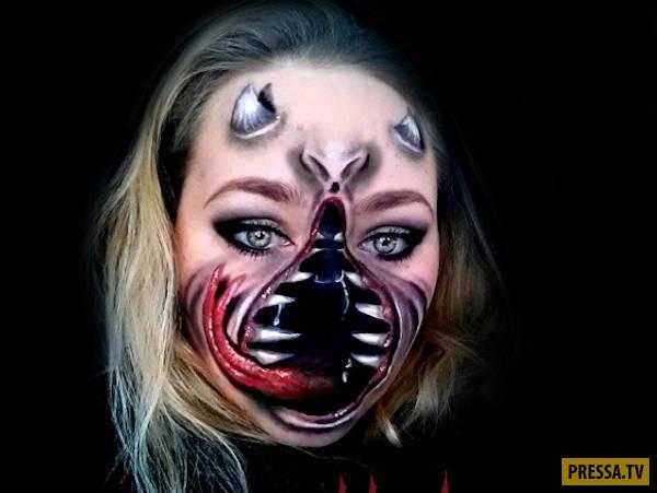 Жуткие маски художницы из Канады (13 фото)