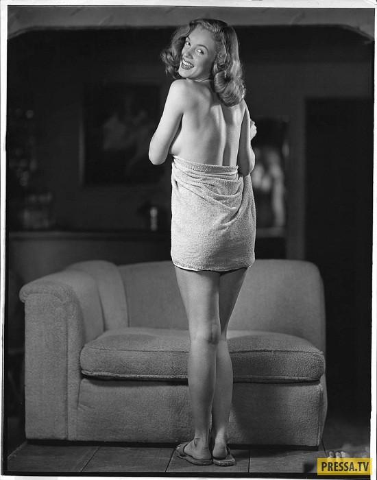 В юности  Мэрилин Монро работала моделью для пин-ап плакатов (12 фото)