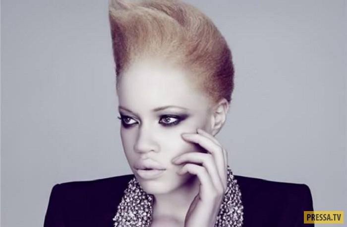 Диандра Форрест - необычная модель - афроамериканка-альбинос (6 фото)