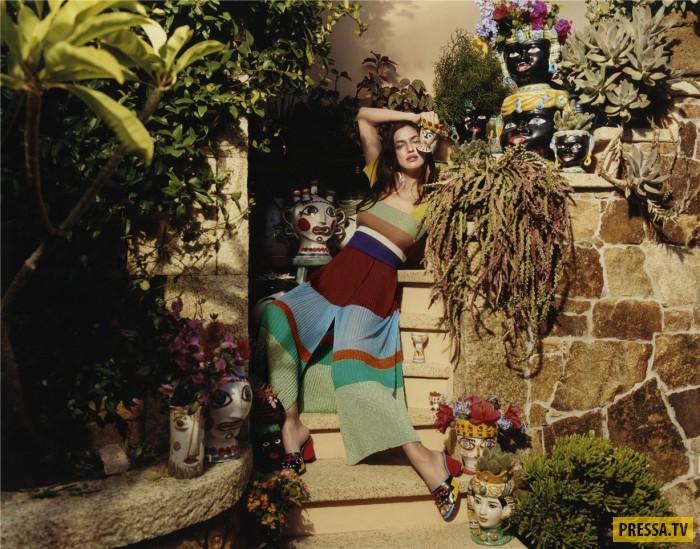 Супермодель Ирина Шейк - лицо коллекции Missoni, весна-лето 2017 (13 фото)