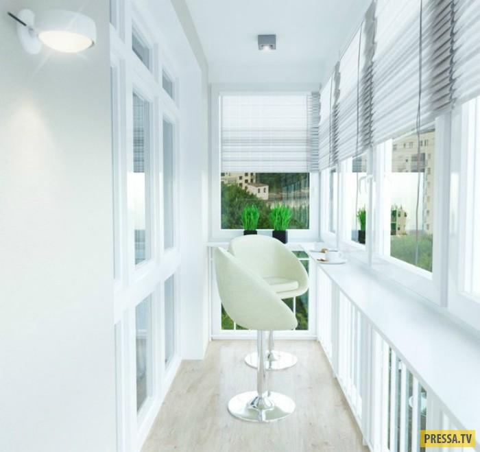 Креативные идеи для стильного балкона (21 фото).