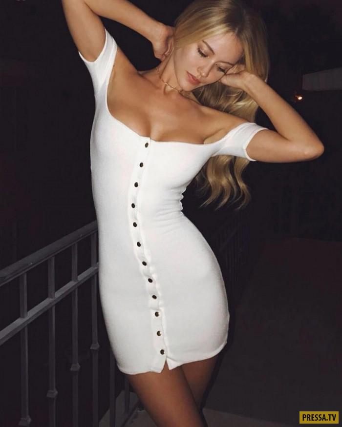 Порно в облегающем платье фото