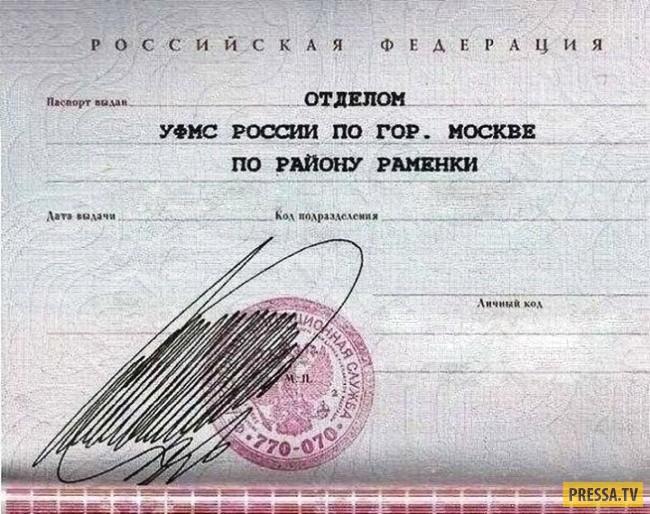 Росписи паспорт синяя ручка