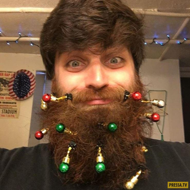 Новогодний тренд для бородатых мужиков ( 5 фото + видео)